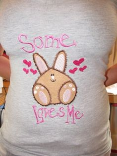 Some Bunny Loves Me Machine Applique Embroidery by KCDezigns, $3.50