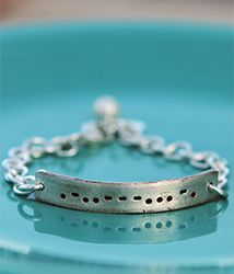 Morse Code Bracelet. I think I need this.