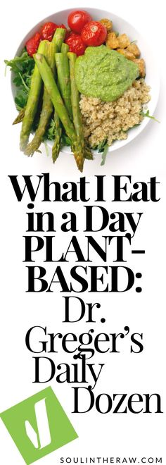 Dr. Greger's Dailiy Dozen Meal Plan: here is everything I ate for a whole day fulfilling all the daily dozen requirements by Dr. Greger. Check out these delicious and easy Daily Dozen Recipes, and I hope they will inspire you to jump in and fulfill the Daily Dozen too!