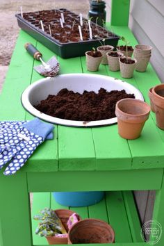 DIY Potting Bench - Made Entirely of 2 x 4s! - Refresh Living