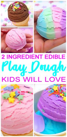 AMAZING 2 ingredient EDIBLE playdough! The best NO cook play doh recipe that kids will love. Easy recipe with simple ingredients. Step by step instructions or video tutorial to learn how to make playdough. Cool Slime Recipes, Best Playdough Recipe, Homemade Playdough, 2 Ingredient Playdough, Crafts For Kids To Make, Easy Meals For Kids, Easy Diy Crafts, Crafts For Girls, Kids Crafts
