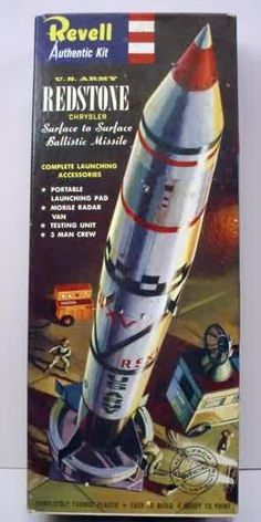 Revell - Redstone - pre the Mercury Redstone launches Plastic Model Kits, Plastic Models, Vintage Toys, Vintage Space, Vintage Models, Airfix Kits, Monogram Models, New Aircraft, Space Toys