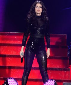 Selena Gomez dons a sexy sheer bodysuit at Jingle Ball in Chicago! | toofab.com