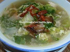 Chinese cabbage is very refreshing especially if you make it into soup. http://simplybeautifulhealthyliving.blogspot.com/2013/08/chinese-cabbage-egg-miso-soup-meatless.html