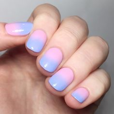 Did a gradient design inspired by Pantone's Color of the Year Rose Quartz and Serenity.
