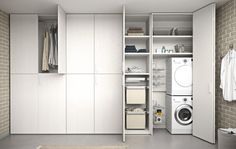Go Modern Ltd > Fitted Wardrobes > Utilita Bedroom Wardrobe Utility Cupboard, Garage Laundry, Pantry Laundry Room, Laundry Room Doors, Basement Laundry, Laundry Room Storage, Modern Laundry Rooms, Laundry Room Inspiration, Cupboard Design