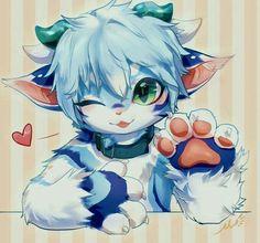 May love furry Kawaii Drawings, Cute Drawings, Furry Oc, Cute Fantasy Creatures, Anime Furry, Furry Drawing, Anthro Furry, Pokemon, Fantastic Art