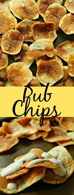 Pub Chips. An easy, delicious and shareable snack that is perfect to enjoy with anyone! | pub chips | gluten free pub chips | vegan pub chips | gluten free | vegan | gluten free snacks | vegan snacks | potato chip recipe | pub chips recipes | pub chips appetizer |