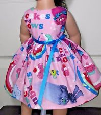 "Doll Clothes-Handmade-American Girl Dolls-Fits18""-Trolls and Rainbows Dress."