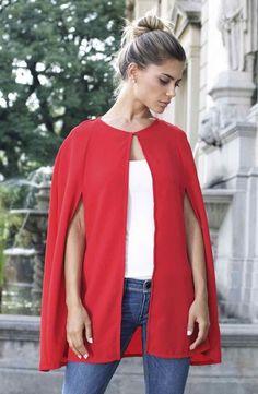 Capa de alfaiataria vermelha da marca Coleteria ♡ - Coletes femininos e infantis - Coleteria | sempre♡
