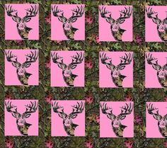 Funny Deer Hunting | Camo Pink Deer Image, Graphic, Picture, Photo - Free