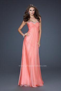 Vestidos de noche largos color coral