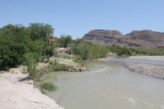 View from the river while crossing over the Boquillas