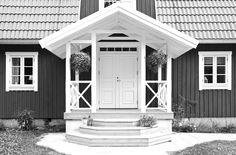 Swedish Cottage, Swedish House, Scandinavian Home, Nordic Home, Veranda Pergola, Dark House, Cottage Furniture, Farmhouse Remodel, Building A Shed
