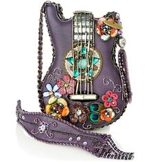 OMG..STUNNING.. Mary Francis Good Vibes Beaded Guitar Handbag.. http://shoes-handbags.hsn.com