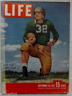 Johnny Lujack Notre Dame Football