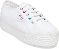 67f33f37b93ccb Superga 2790 Multicolor Eyelets Platform Sneaker Platform Sneakers