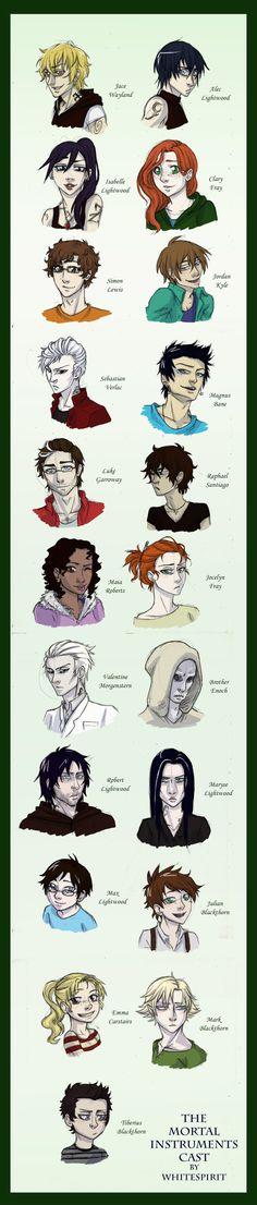 The Mortal Instruments beautiful character sketches