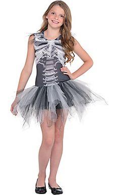 child skeleton tutu dress black u bone