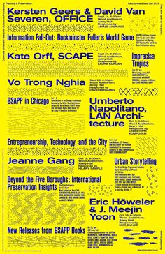Poster design by Neil Donnelly. Courtesy of Columbia GSAPP.