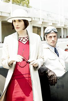 Lady Mary Crawley with Henry Talbot, Downton Abbey S06E07..