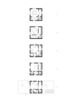 Pezo by Ellrichshausen · Cien House Section Drawing Architecture, Architecture Plan, Contemporary Architecture, Library Architecture, Small House Plans, House Floor Plans, Pezo Von Ellrichshausen, Tower House, Plan Drawing