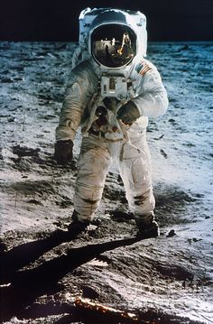 Apollo 11 Buzz Aldrin. I have to laugh at people who believe we didn't really go to the moon.