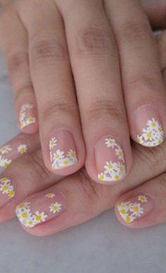 Cute Spring Nails, Spring Nail Art, Nail Designs Spring, Cute Nail Designs, Summer Nails, Cute Nails, Pretty Nails, Awesome Designs, Daisy Nail Art