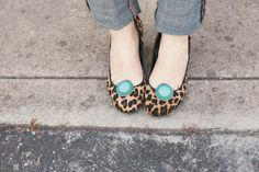 Add clip-on earrings to flats to dress them up - genius!