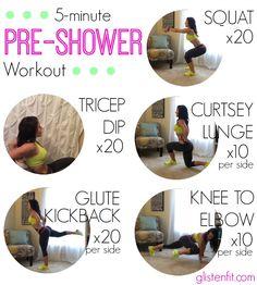 5-Minute Pre-Shower Workout : Glisten Fit