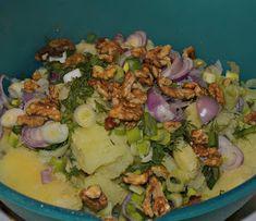 ΜΑΓΕΙΡΙΚΗ ΚΑΙ ΣΥΝΤΑΓΕΣ: Πατατοσαλάτα η απίθανη !!! Cobb Salad, Potato Salad, Food And Drink, Rice, Potatoes, Ethnic Recipes, Potato, Laughter, Jim Rice
