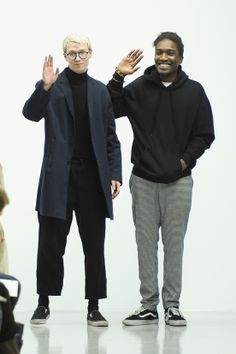 Agi & Sam presented their Fall/Winter 2014 collection during London Collections: Men. Fashion Show, Mens Fashion, Fashion Design, Coat Of Many Colors, Fall Winter 2014, Men's Collection, Spirit Animal, Catwalk, Winter Jackets
