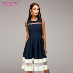 Cheap dress for, Buy Quality sexy dress directly from China dress fashion Suppliers: S.FLAVOR women Sleeveless fashion A-line Vestidos slim O-neck sexy dress vintage elegant party dress for female Cheap Dresses, Short Dresses, Sleeveless Dresses, Dress Outfits, Fashion Dresses, Elegant Party Dresses, Mode Shop, Mode Style, Vintage Dresses