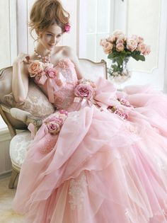 Vintage Shabby Pink! [Love the dress--just not in pink]