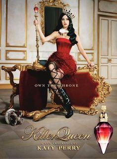 """Katy Perry toma el trono en la campaña para su nueva fragancia """"Killer Queen"""""""