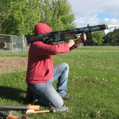RPG With Paintball Rockets : 11 Steps (with Pictures) - Instructables Paintball Funny, Paintball Field, Paintball Gear, Air Cannon, Homemade Weapons, Most Popular Sports, Air Rifle, Big Guns, Golf Lessons