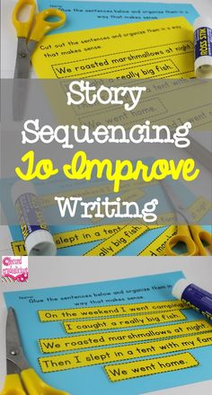 Sequencing is a great way to teach students about the organization trait for writing. It can also build reading comprehension skills.