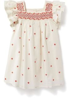 c9d066fad Embroidered Flutter-Sleeve Dress for Baby Little Kid Fashion, Baby Girl  Fashion, Kids