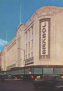 Joskes department store Art Deco facade - San Antonio TX [This is a flashback view for visitors and residents. The facade still still stands for all to see. ~sdh]