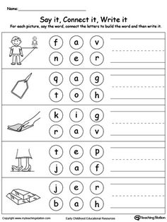 AY Word Family Building Words   Language, Word families and ...