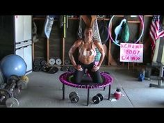 She says this if for beginners...that's hilarious.  I don't think she knows lots of beginners:)  I do like her workouts.  AChampion's Beginners Bellicon Rebounding - YouTube