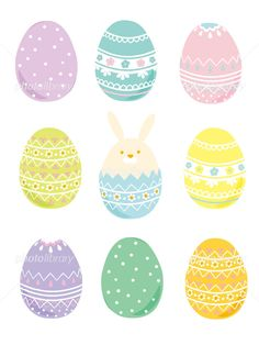 Easter Templates, Bunny Coloring Pages, Easter Egg Designs, Easter Cookies, Easter Crafts, Vector Graphics, Artsy Fartsy, Easter Eggs, Scrapbooking
