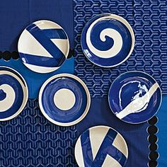 Azure Plates - Assorted Set of 4
