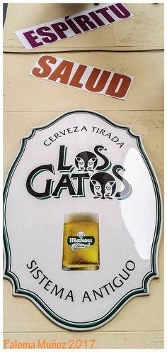 """Calle de Jesús. Cervecería """"Los Gatos"""". Street of Jesus. Brewery """"Los Gatos""""."""