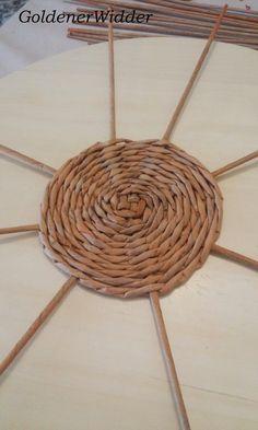 Плетение круга из 8 лучиков.