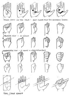 How To Draw Hands Closed