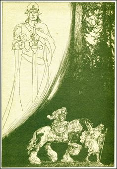 Parsifal, illustré par Willy Pogany (1912)  http://4.bp.blogspot.com/-4SvmK6pNFLo/Ux5isfJjdQI/AAAAAAACUIs/9TumYA5NkaE/s1600/59_parsifal_pogany_deliverer.jpg