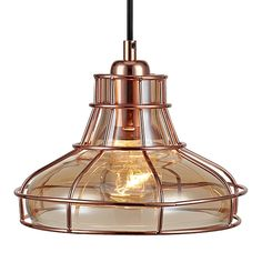 Versanora - Illusione Metal Mini Pendant Lamp with Cage - Rose Gold Finish : Target Mini Pendant, Pendant Lamp, Pendant Lighting, Overhead Lighting, Unique Lighting, Lighting Ideas, White Pendant Light, Industrial Light Fixtures, Ceiling Medallions