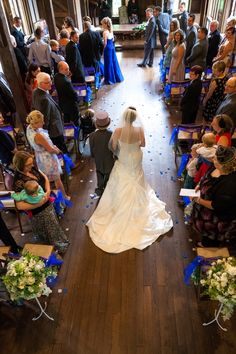 Thanks to the hall, we could have photographer at the front & at the top in the gallery. Great shot looking down as I walked in getting the dress all displayed from the back