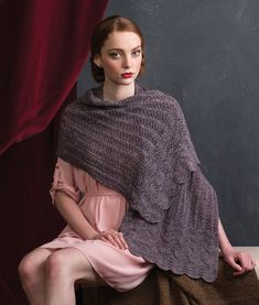 Create this beautiful and feminine knitted shawl pattern using Kitchener stitch and a fern lace stitch. Shawl Patterns, Stitch Patterns, Knitting Patterns, Shawl Cardigan, Learn How To Knit, Knit Wrap, Yarn Projects, Knitted Shawls, Two Pieces